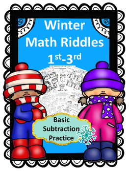 Winter Math Riddles for 1st-3rd (Subtraction)