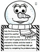 Winter Math: SALLY the Snowman Multi-Step Word Problem Cra