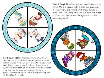 Winter Math Sampler Pack