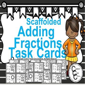 Winter Math Scaffolding Adding Fractions