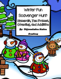 Winter Math Scavenger Hunt:  Numerals, Ten Frames, Counting and Cardinality