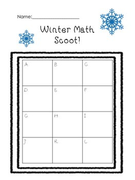 Winter Math Scoot Review