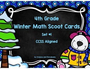 Winter Math Scoot Cards