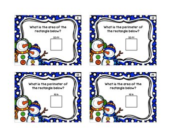 Winter Math Scoot Cards Set 2