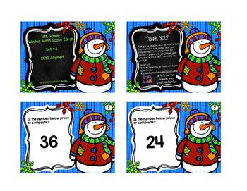 Winter Math Scoot Cards Set 3