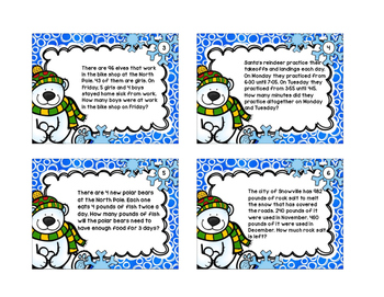 Winter Math Scoot Cards Set 4