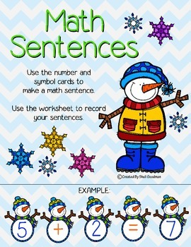 Winter Math Sentences