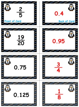 Winter Math Skills & Learning Center (Converting Fractions to Decimals)
