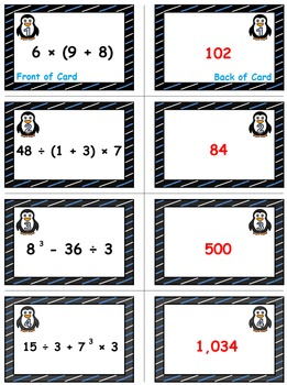 Winter Math Skills & Learning Center (Order of Operations)