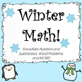 Winter Math: Pre-K, Kindergarten, & First Grade Activities!