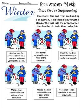 Winter Math Activities: Snowman Math Winter Math Activity Packet