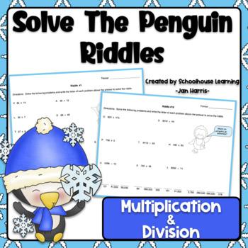 Winter Math Solve The Penguin Riddles Using Multiplication