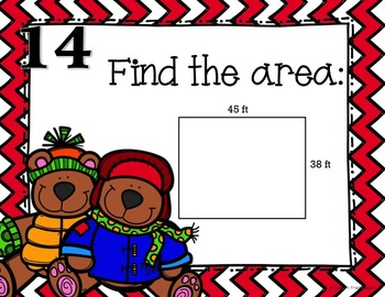 Winter Math Spiral Review - Solve the Room 4th/5th Grade
