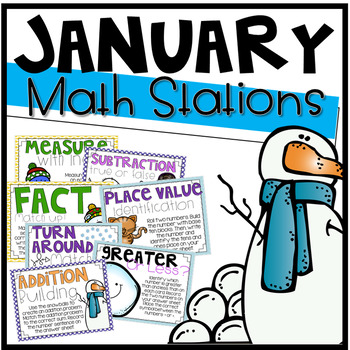 January Math Stations {12 Activities}
