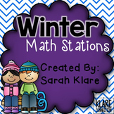 Winter Math Stations {2nd and 3rd Grade}