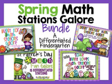 Spring Math Stations Galore-Five Differentiated and Aligned Sets