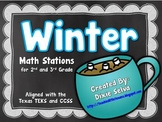 Winter Math Stations for 2nd/3rd