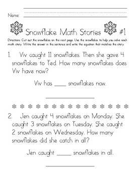 Winter Math Stories