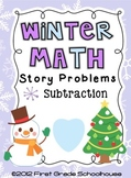 Winter Math Subtraction Word Problems