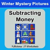 Winter Math: Subtracting Money - Color-By-Number Mystery Pictures