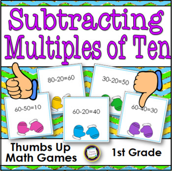 Winter Math Subtracting Multiples of Ten