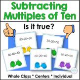 Winter Math Subtracting Multiples of Ten