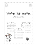 Winter Math Subtraction Packet with Number Line