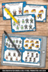 Subtraction to 10 Task Cards, Winter Math Sports Theme