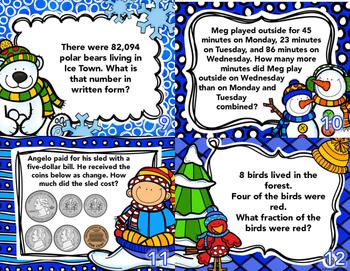 Winter Math Task Cards