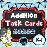 Addition Task Cards Winter Theme