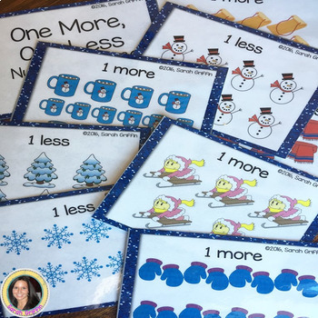 One More, One Less - Winter Math Center ~ SCOOT