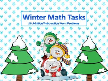 Winter Math Task Word Problems