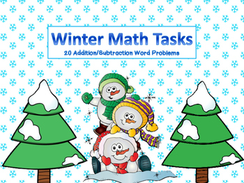 Winter Math Task Word Problems