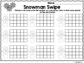 Winter Math Tub Games and Activities