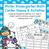 Winter Kindergarten Math Center Games and Activities