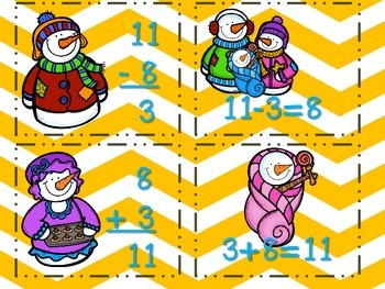 Winter Math Tubs - Common Core Aligned