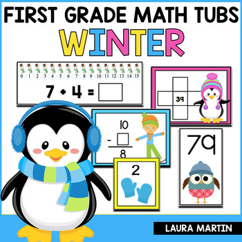 Math Centers-Winter First Grade Common Core Activities