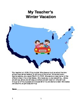Winter Math U. S. Road Trip Project