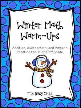 Winter Math Warm-Ups (1st-2nd)