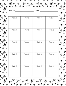 Winter Math Word Problem Task Cards