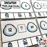 Winter Math Task Cards Greater Than Less Than