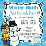 Winter Math Worksheet Pack {2nd Grade}