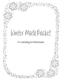 Winter Math Worksheet Packet