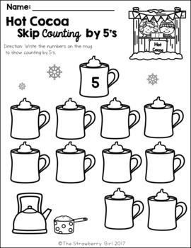 kindergarten math worksheets winter by the strawberry girl tpt. Black Bedroom Furniture Sets. Home Design Ideas