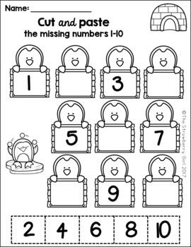 Kindergarten Math Worksheets - Winter by The Strawberry ...