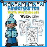 Kindergarten Math Worksheets - Winter
