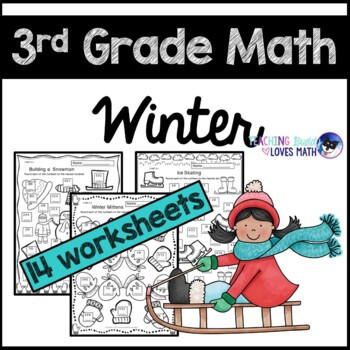 Winter Math Worksheets 3rd Grade Common Core by Teaching Buddy Loves ...