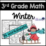 Winter Math Worksheets 3rd Grade