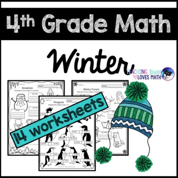 Winter Math Worksheets 4th Grade Common Core