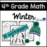 Winter Math Worksheets 4th Grade